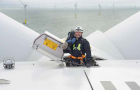 'An average day in the office' on Gwynt y Mor Offshore wind farm