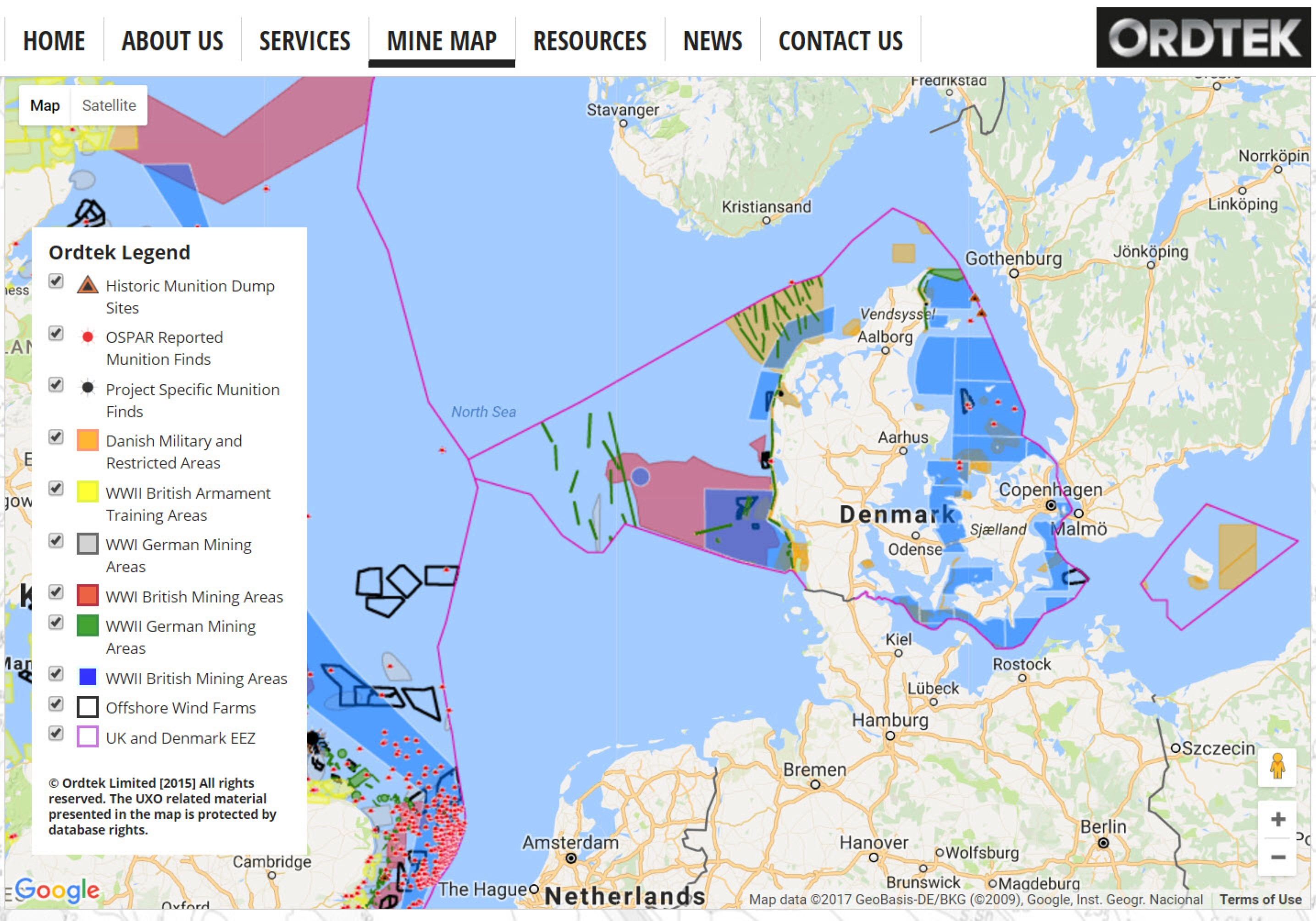 Expanding Mine Map helps spot danger at Danish wind farm site – Map Uk Wind Farms